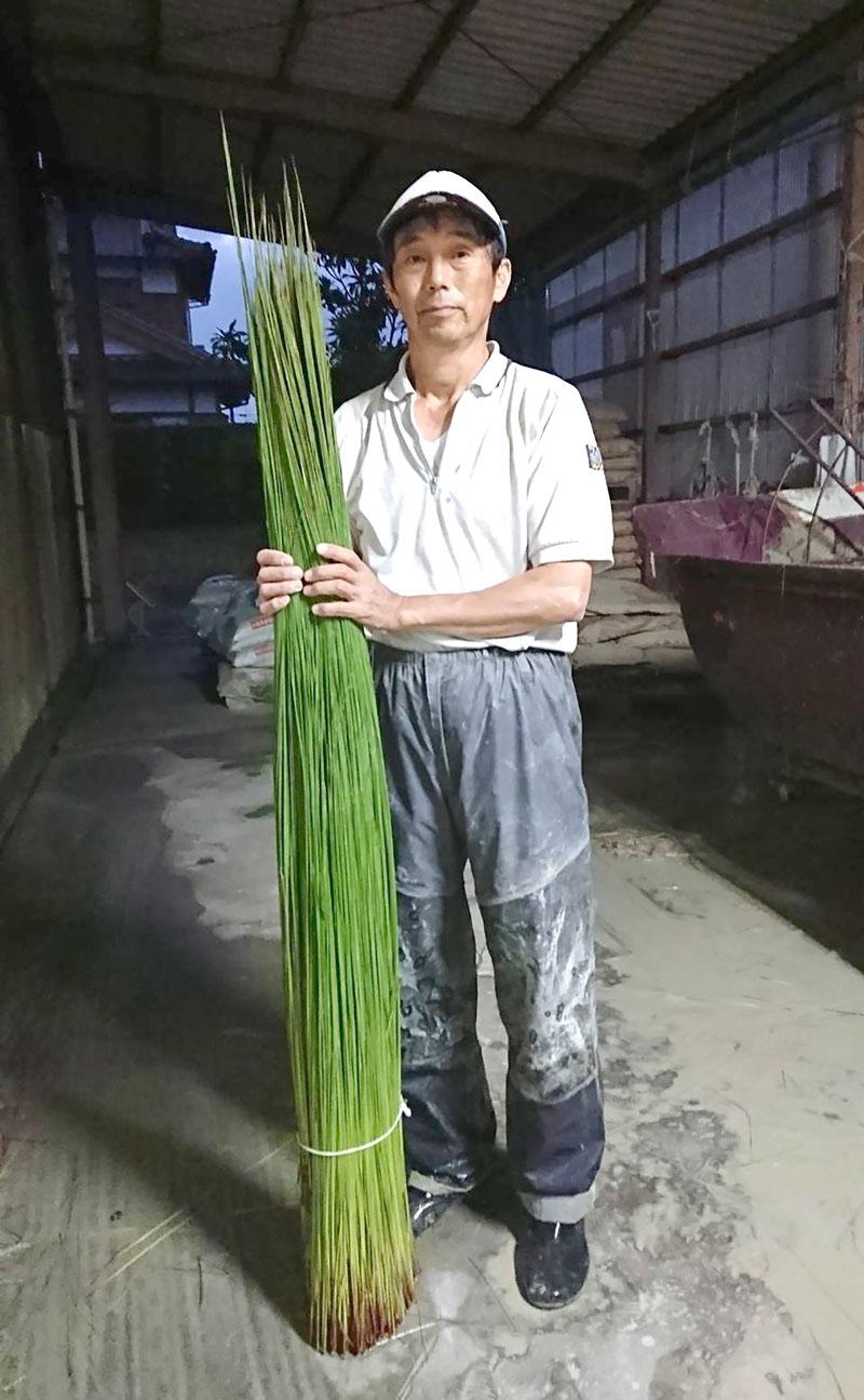 吉田昭則さんイグサ農家 春日井畳店